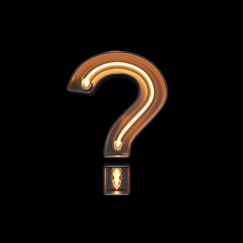 Light in the form of a question mark - Great questions to ask during cyber security interview
